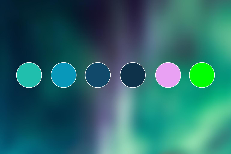 De grønne øyene – fargepalett